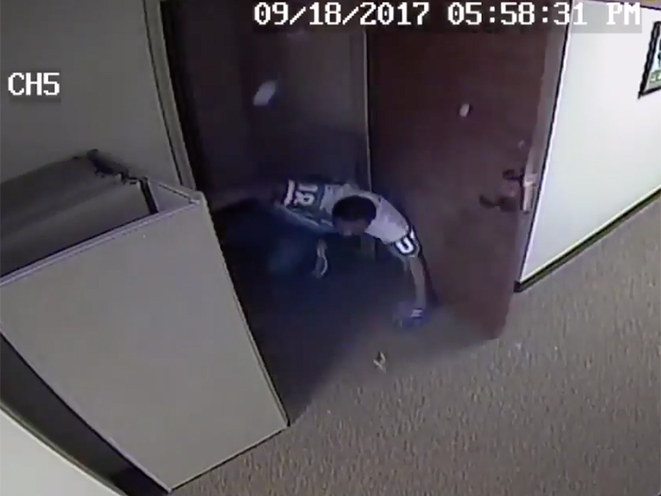 north carolina office intruder