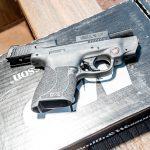 Smith & Wesson M&P Shield M2.0 Pistol athlon outdoors rendezvous Crimson Trace box