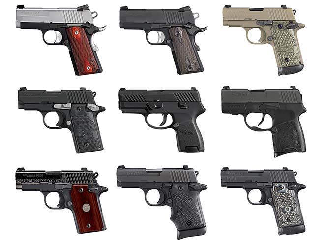 subcompact sig sauer pistols