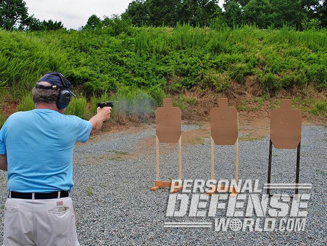 polymer 45 pistol shooting