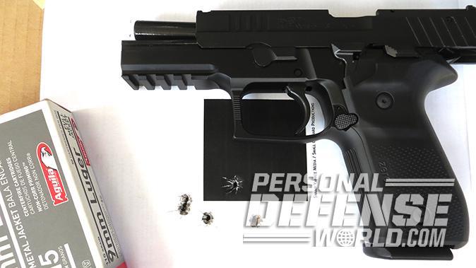 Arex Rex Zero 1S pistol target
