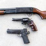 backup gun revolver and 1911