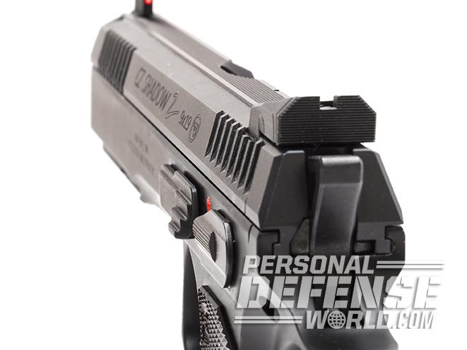 CZ Shadow 2 pistol rear sight