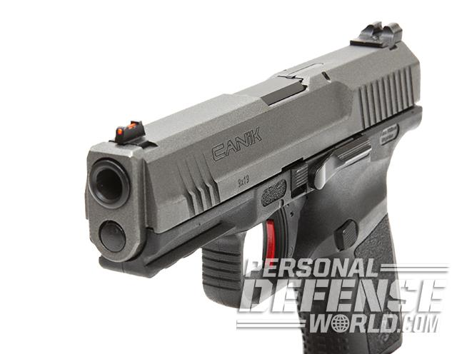 Canik TP9SF Elite pistol front angle