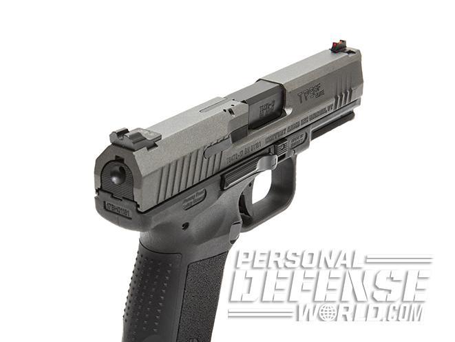 Canik TP9SF Elite pistol rear angle