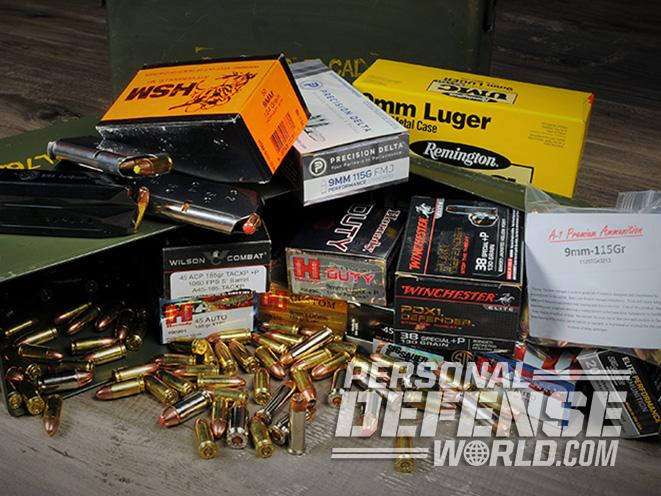 handgun ammo collection