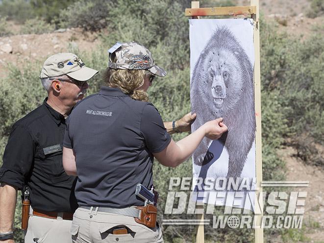 Kimber Camp Guard 10 pistol bear target
