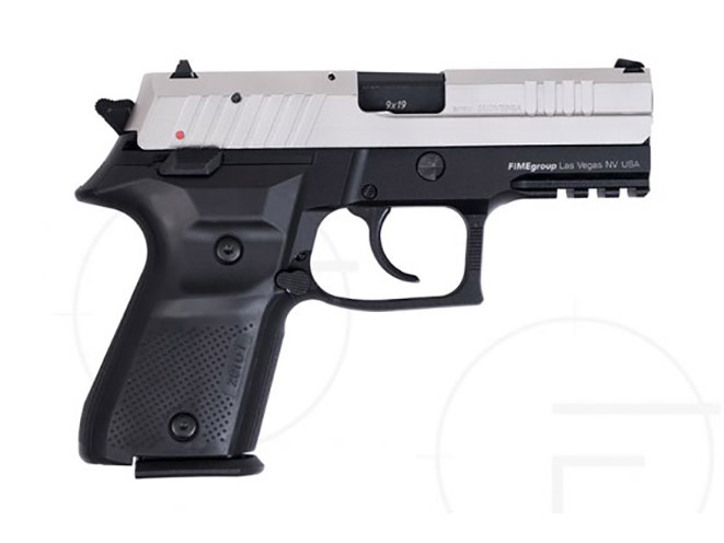 rex pistols nickel plated slide compact right profile