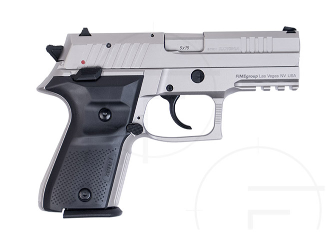 rex pistols nickel plated compact right profile