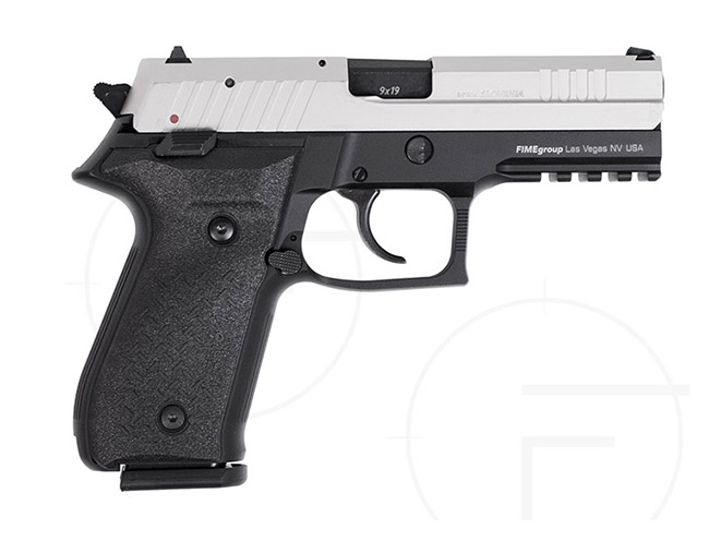 rex pistols nickel plated slide standard right profile