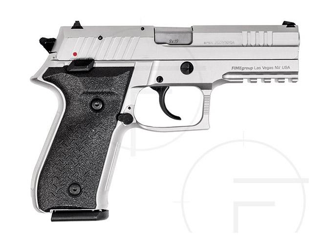 rex pistols nickel plated standard right profile