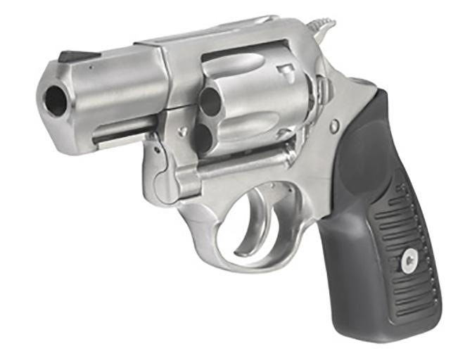 Ruger SP101 9mm revolver left front angle