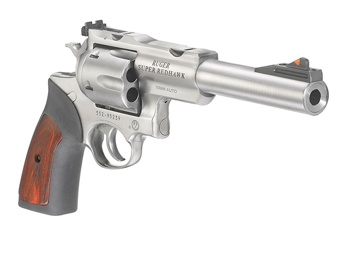 Ruger Super Redhawk 10mm revolver right angle