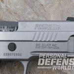 Sig Sauer P229 ASE pistol front serrations