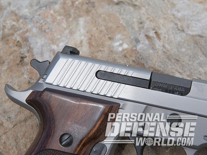 Sig Sauer P229 ASE pistol rear serrations