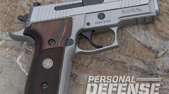 Sig Sauer P229 ASE pistol right profile