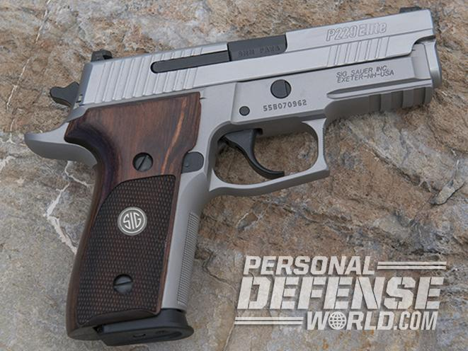 Sig Sauer P229 ASE pistol right profile