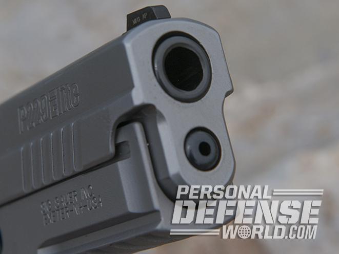 Sig Sauer P229 ASE pistol barrel