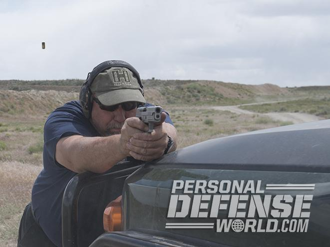 Sig Sauer P229 ASE pistol shooting