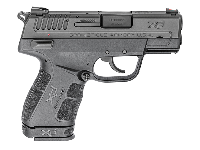springfield xde 45 ACP grip extension right profile