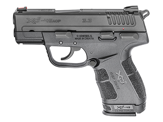 springfield xde 45 ACP grip extension left profile