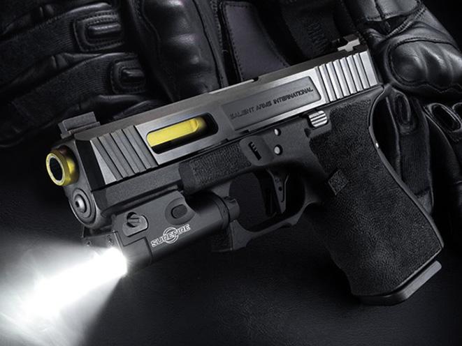 SureFire XC1-B light on gun