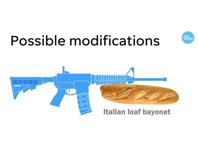 chainsaw bayonet bread