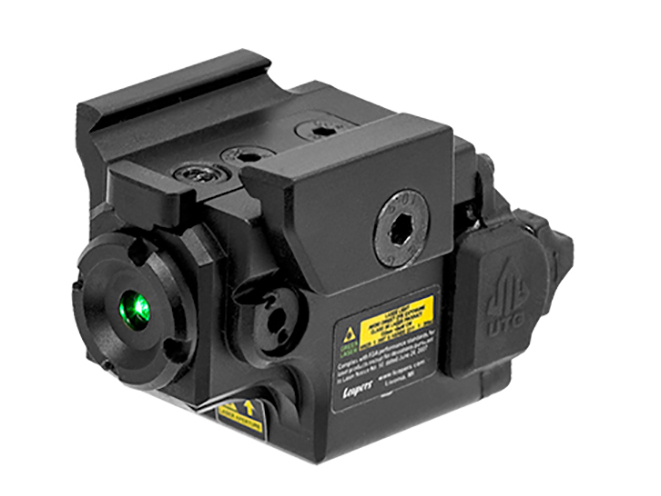UTG Compact Ambidextrous Green Laser left angle