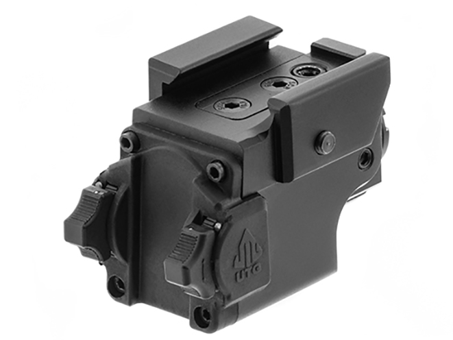 UTG Compact Ambidextrous Green Laser rear angle