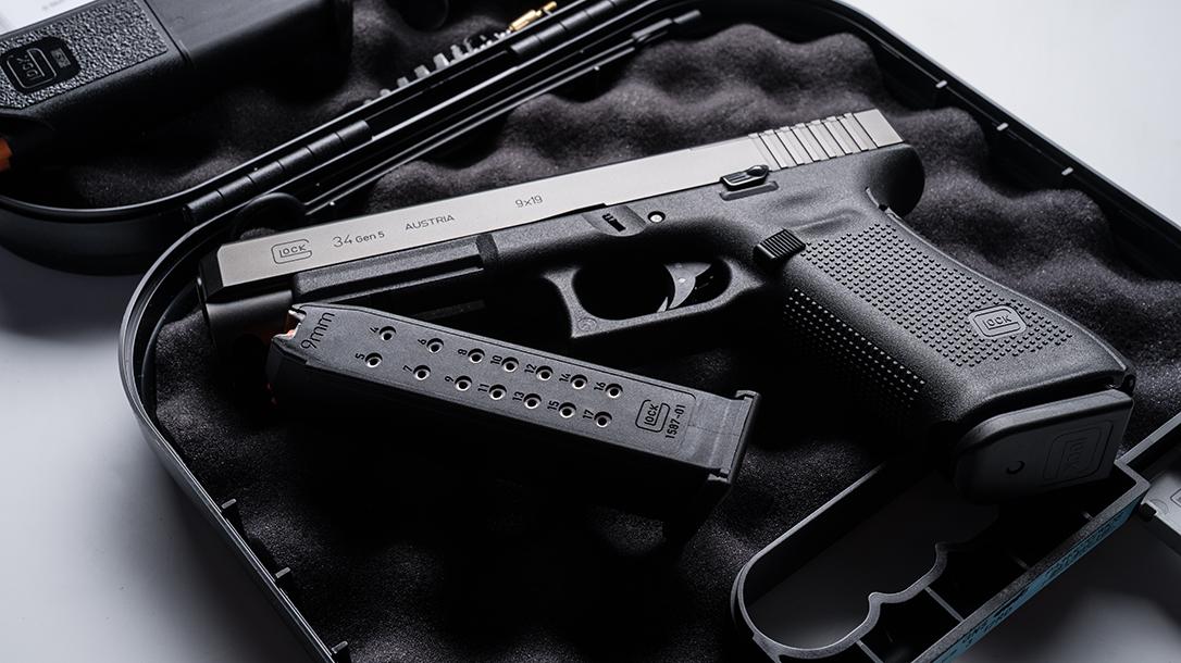 Glock 34 Gen5 MOS pistol release magazine