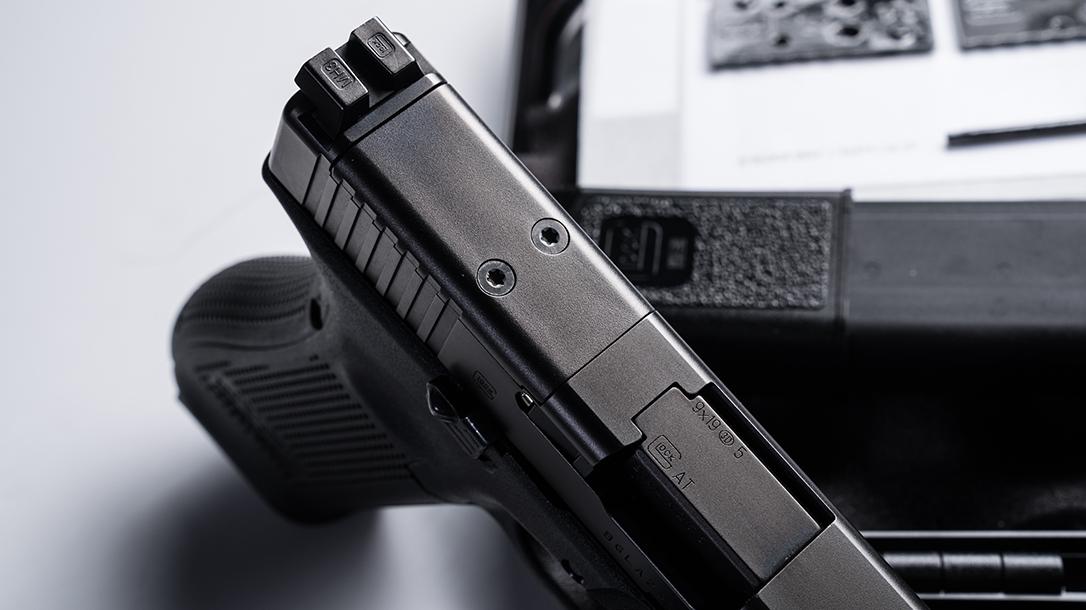 Glock 34 Gen5 MOS pistol release rear