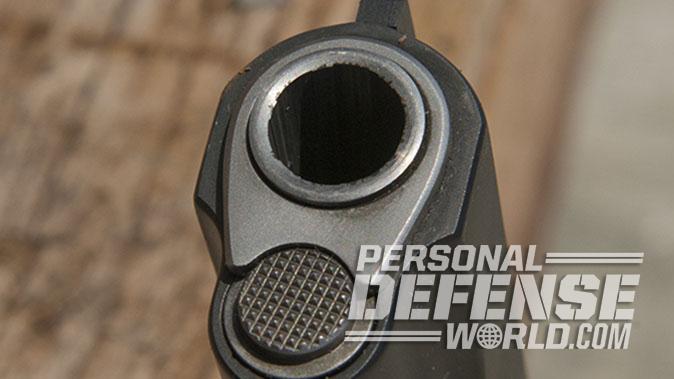 Colt Gunsite 1911 pistol muzzle