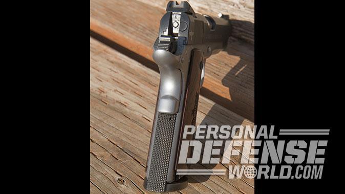 Colt Gunsite 1911 pistol mainspring housing and grip safety