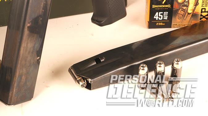 Flint River Armory CSA45 carbine magazine closeup
