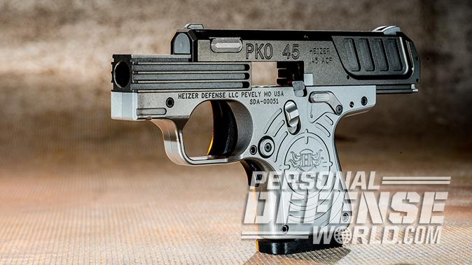 Heizer Defense PKO-45 pistol left profile