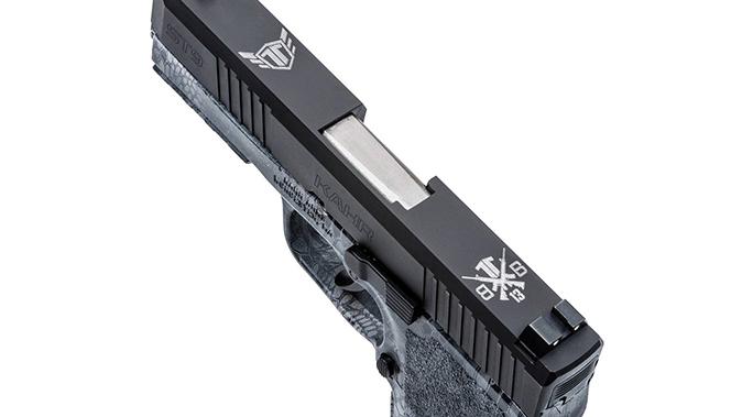 Kahr ST9 TIG Pistol engravings