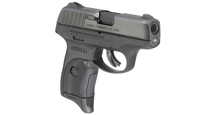 Ruger EC9s pistol right angle