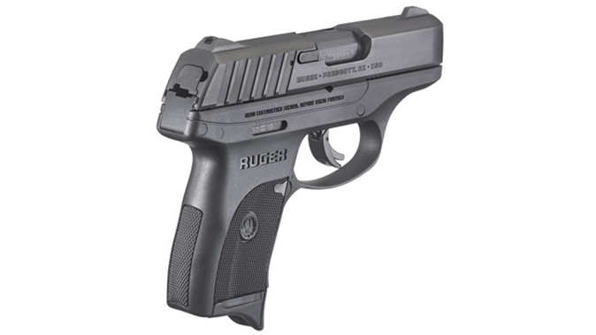 Ruger EC9s pistol rear angle