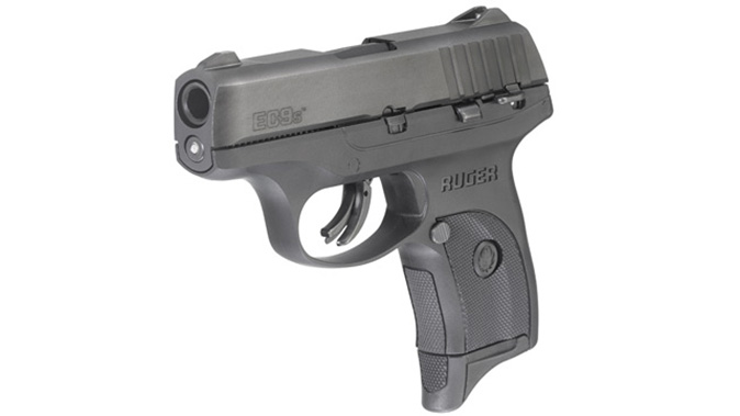 Ruger EC9s pistol front angle