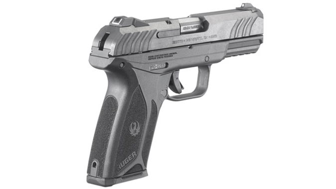 Ruger Security-9 pistol rear angle