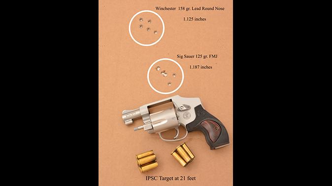 S&W Model 642 Performance Center revolver target