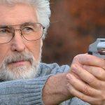 S&W Model 642 Performance Center revolver aiming