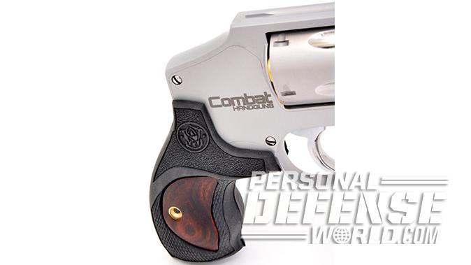 S&W Model 642 Performance Center revolver combat handguns logo
