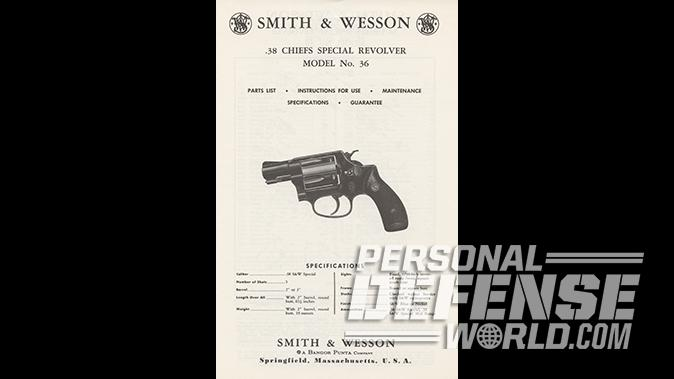 S&W Model 642 Performance Center revolver chief's special ad