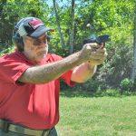 Springfield XD-E pistol shooting