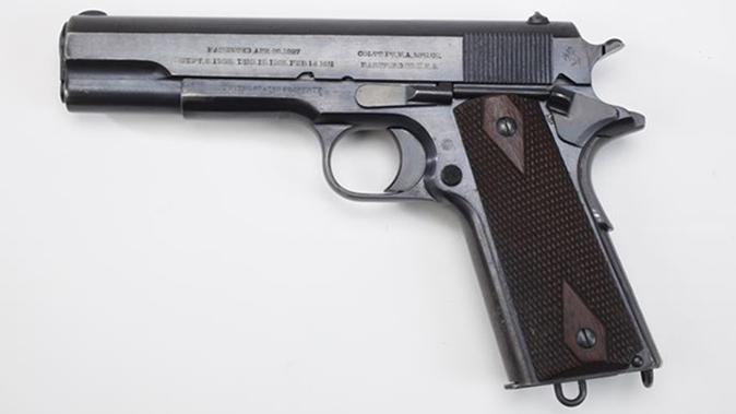 us army surplus m1911 pistol left profile