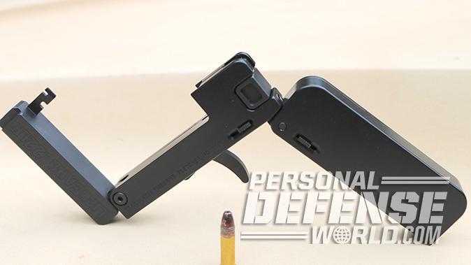 Trailblazer LifeCard pistol completely unfolded