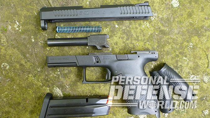 CZ P-10 C pistol disassembled