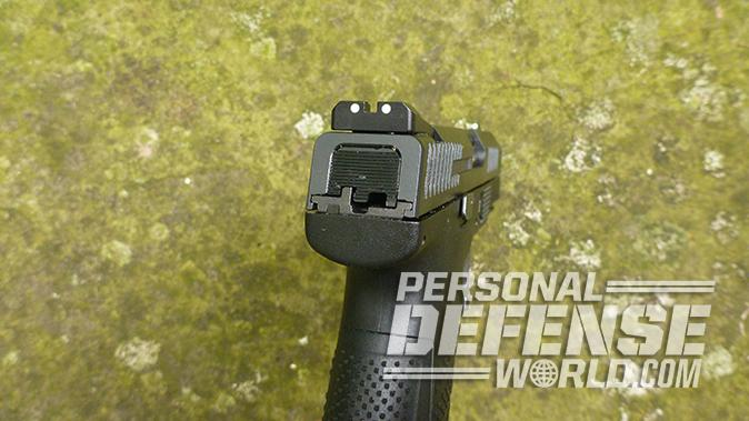 CZ P-10 C pistol rear sight