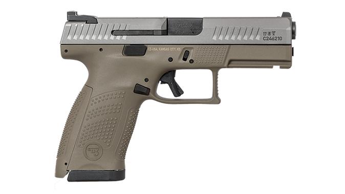 cz p-10 c FDE White Nitride pistol right profile